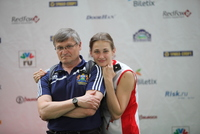 победительница Всемирных игр-2013 Алина Гайдамакина и ее тренер Сергей Сергеев